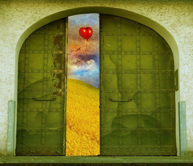 Wand, Herz, Gras, Tor, Andere welt, Liebe