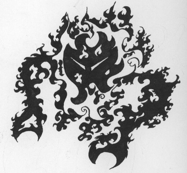 Kontrast, Tätowierung, Tattoo, Tuschmalerei, Grafik