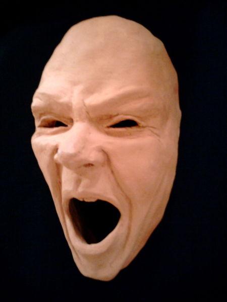 Maske, Keramik, Plastik
