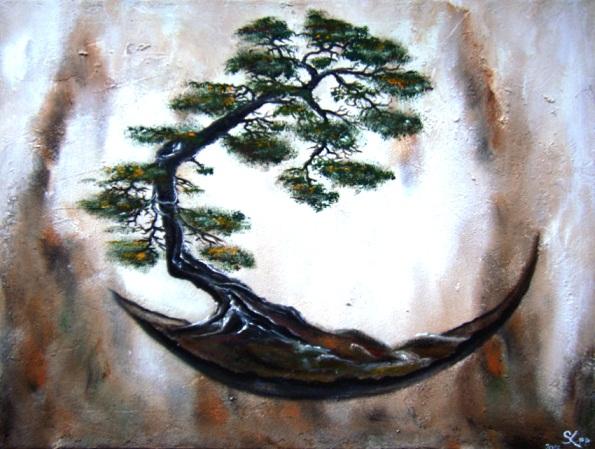 bild bonsai wald baum stuktur von einzigartig bei kunstnet. Black Bedroom Furniture Sets. Home Design Ideas