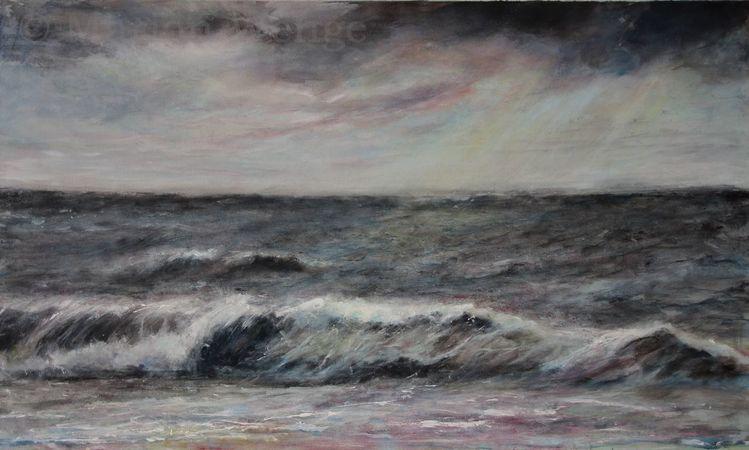 Wolken, Welle, Meer, Landschaft, Himmel, Brandung