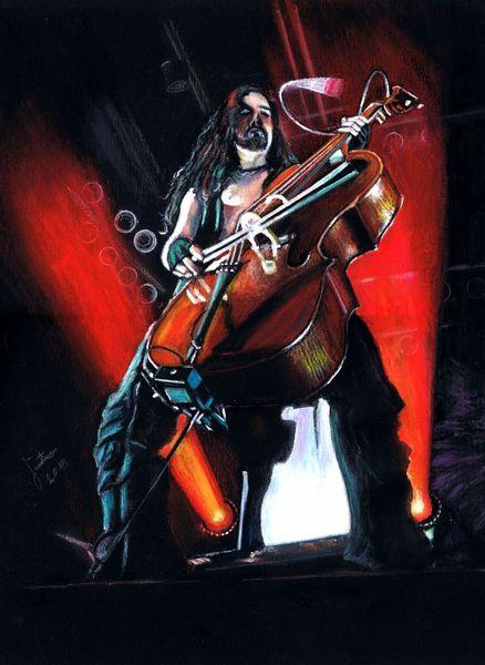 Apocalyptica, Musiker, Cello, Konzert, Rockmusik, Aquarell