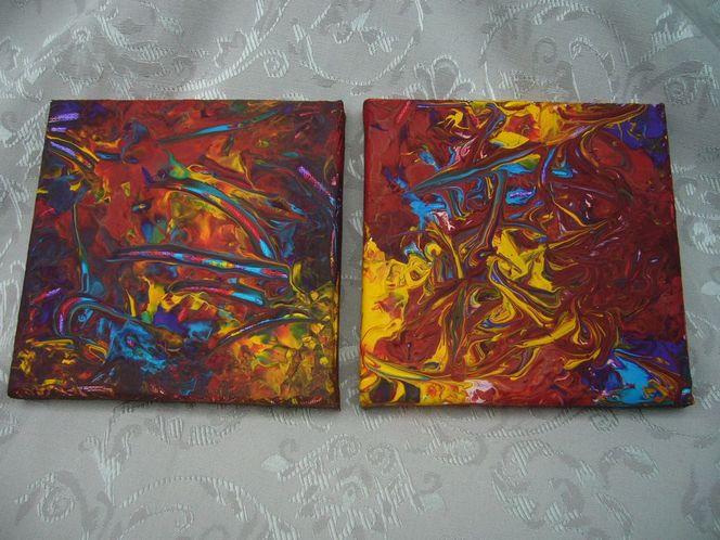 P1130714, Licht, Acrylmalerei, Feuer, Malerei, Abstrakt