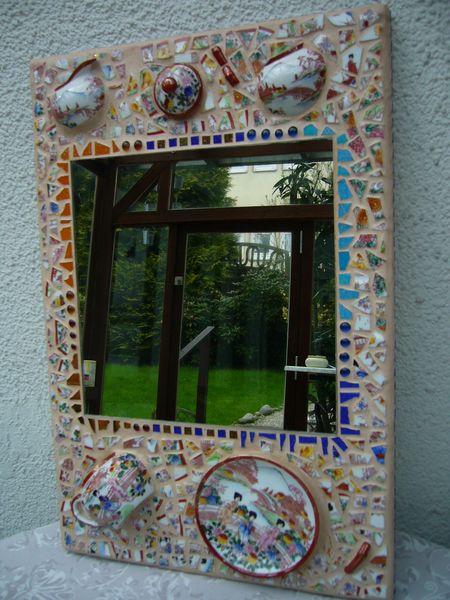 Porzelan, Mosaik, China, Spiegel, Kunsthandwerk, Keramik