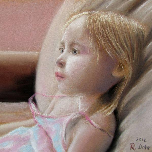 Mädchen, Blick, Portrait, Kind, Haare, Malerei
