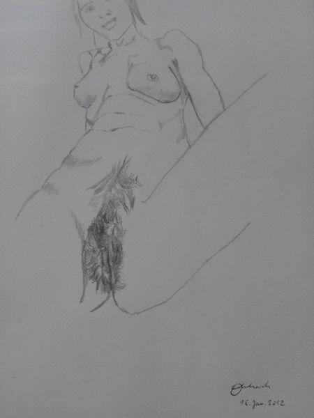 Bleistiftzeichnung, Akt, Zeichnung frau, Erotik, Menschen, Schwarz weiß