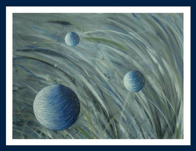 bild acrylmalerei kugel blau malerei von andream bei kunstnet. Black Bedroom Furniture Sets. Home Design Ideas