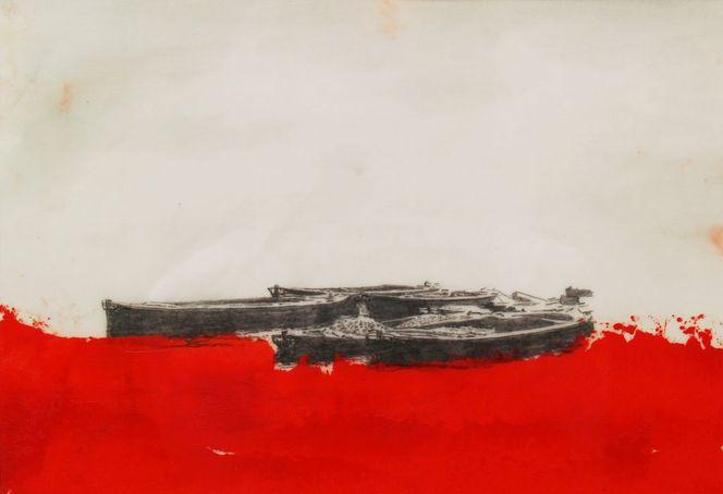 Gegenständlich, Marinemalerei, Wasser, Boot, Malerei, Studie