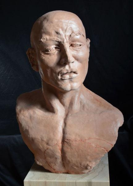Mann skulptur, Menschen, Kopf, Figurativ, Heidelberg, Plastik