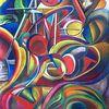 Pompidou, Pastellmalerei, Modern, Malerei