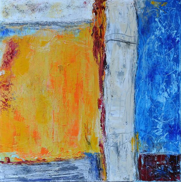 Abstrakter expressionismus, Übergang, Intuition, Abstrakt, Farbstruktur, Kratzen