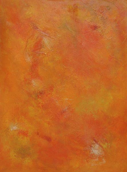 Sonne, Farbfeldmalerei, Orange, Wärme, Modern, Sommer