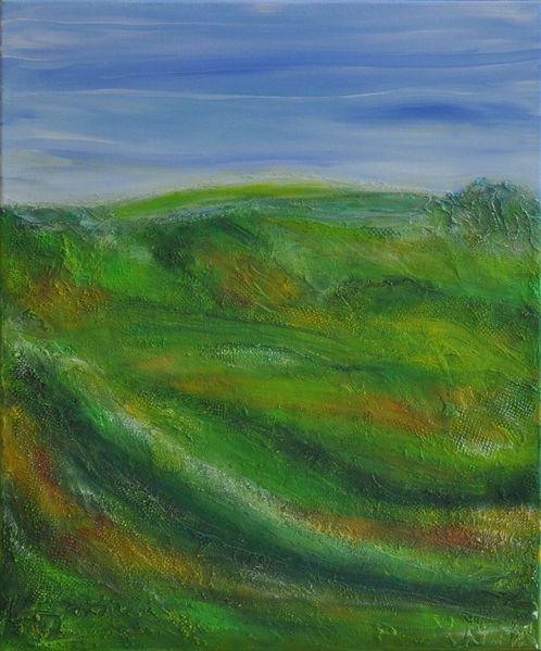 Ruhe, Orange, Feld, Himmel, Wiese, Landschaft