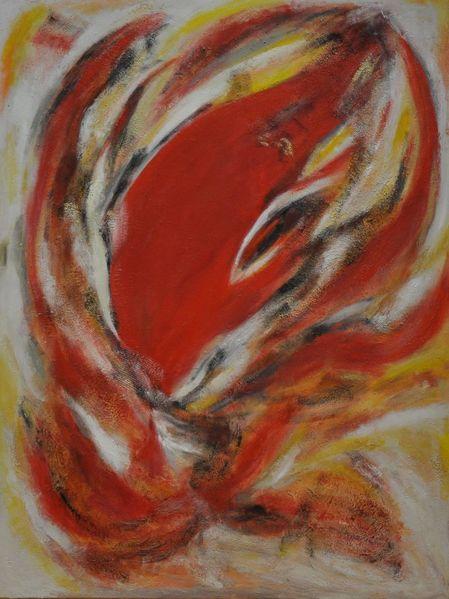 Lyrisch expressiv, Struktur, Tiere, Dynamik, Weiß, Rot