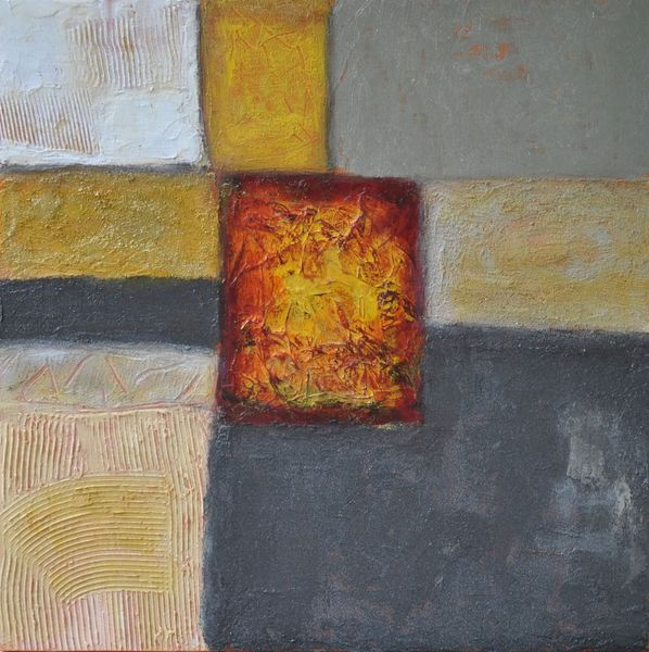 Gelb, Acrylmalerei, Modern, Schimmer, Abstrakt, Holz