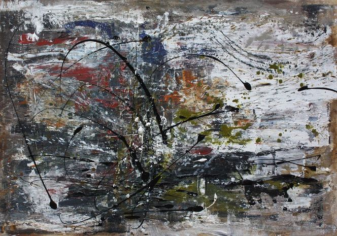 Gemälde, Intuition, Abstrakt, Acrylmalerei, Malerei