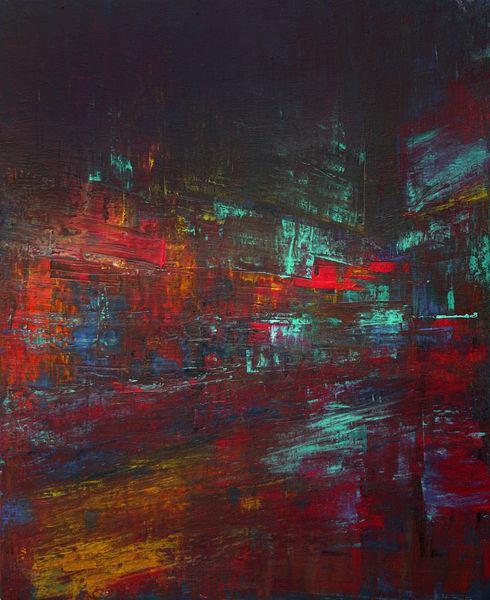 Stadt, Straße, Velocity, Neon, Geschwindigkeit, Nacht