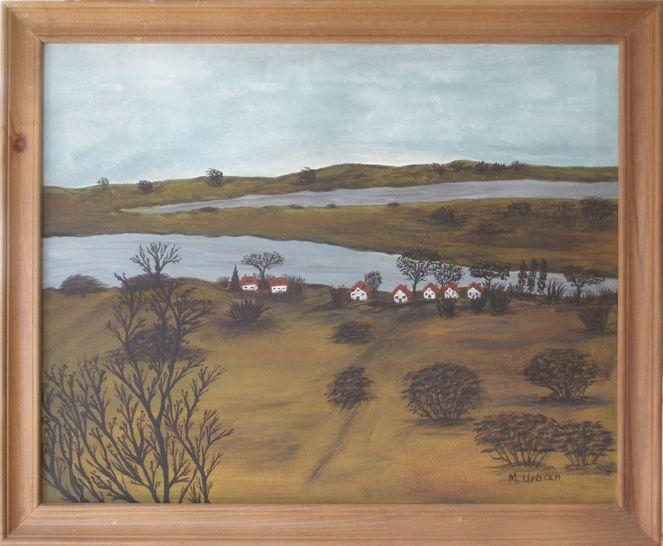 Hiddensee, Insel, Landschaft, Malerei, März