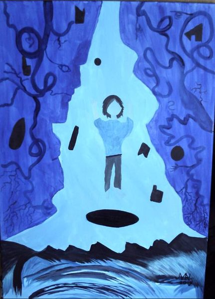 Blau, Abstrakt, Malerei