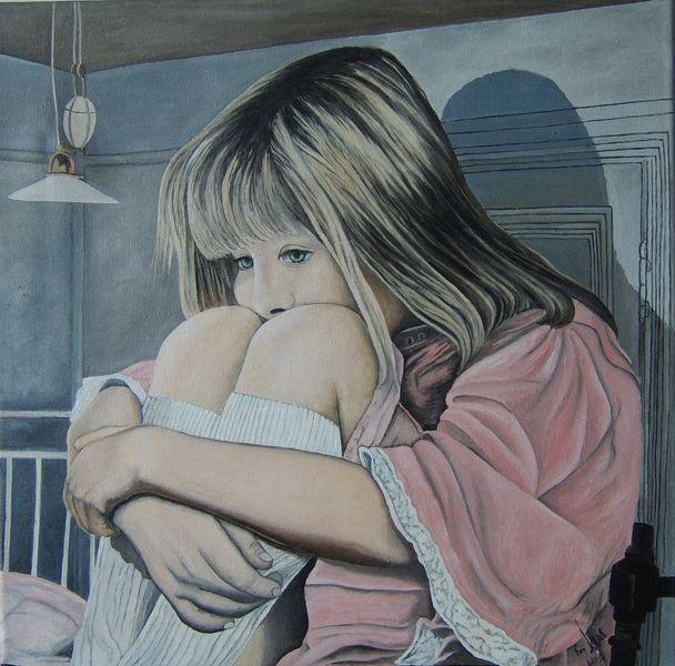 Trauer, Gedanken, Kindheit, Angst, Malerei, Menschen
