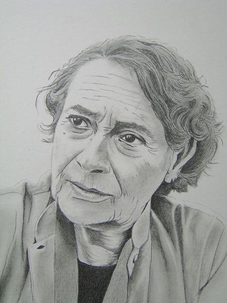 Monica bleibtreu, Portrait, Zeichnungen