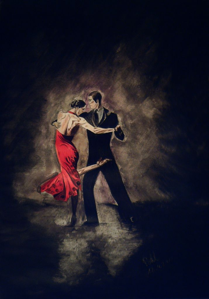 tango argentina malerei tango von denise p bei kunstnet. Black Bedroom Furniture Sets. Home Design Ideas