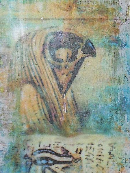 Malerei, Mythologie, Horus, Acrylmalerei, Ägypten
