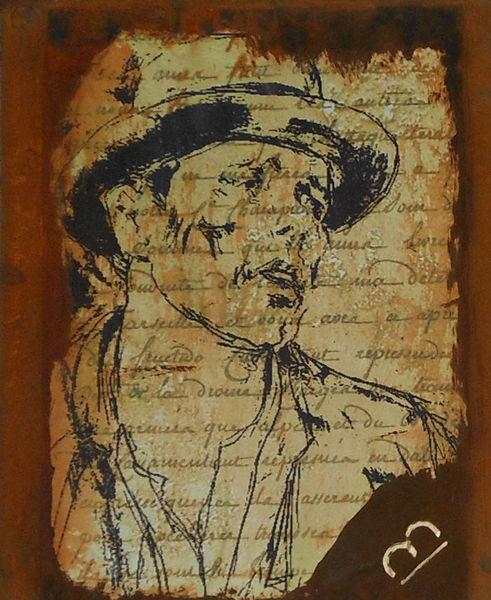 Zeichnung, Beuys, Malerei, Rost, Mischtechnik, Erinnerung
