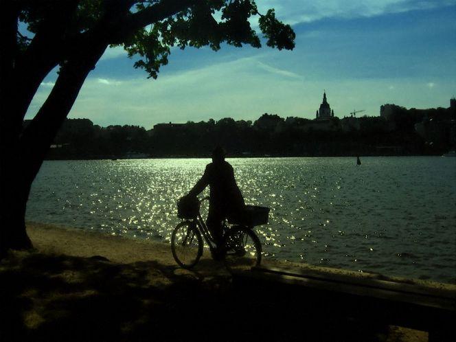 Söder, Sonne, Schweden, Radfahren, Stockholm, See