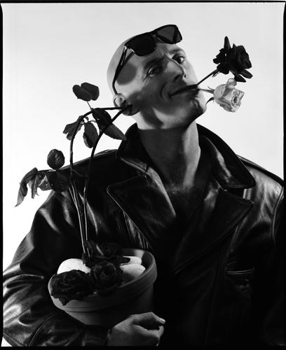 Mann, Handabzug, Rose, Barytpapier, Fotografie, Flower power
