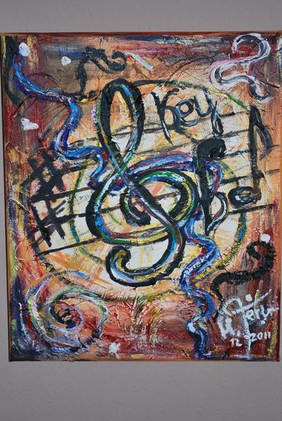 Note musik, Abstrakt, Notenschlüssel, Malerei
