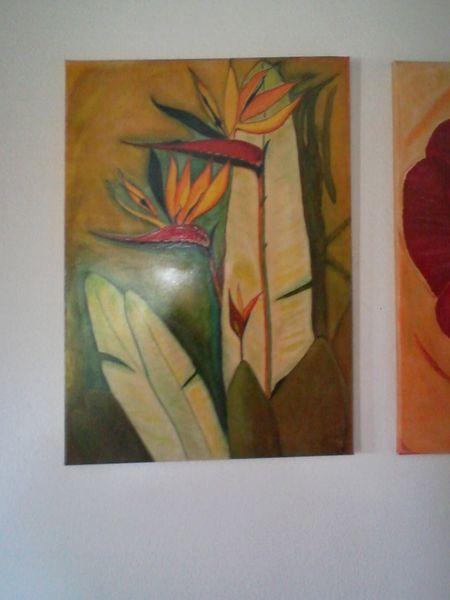 Ölgemälde auf leinwand, Persönlich, Charly1944, Strelitzia, Meine gemälde, Meine bilder