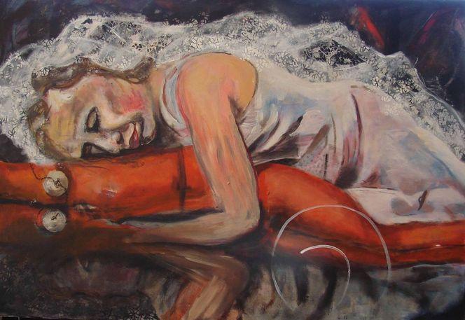 Trauer, Verzweiflung, Malerei, Malerei und fotografie, Holzdruck, Braut