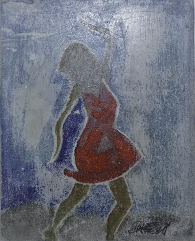 Farben, Flachreliefs, Technik, Gipsbilder, Rot, Malerei