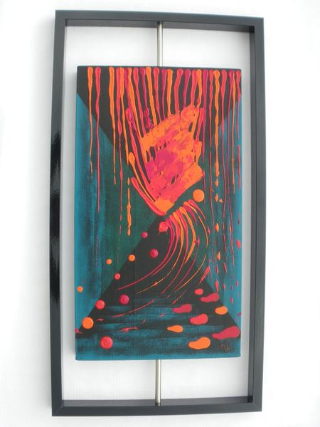 Alu, Rot, Blautöne, Ungewönlich, Malerei, Abstrakt