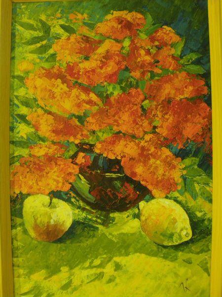 Orange, Karton, Obst, Acrylmalerei, Grün, Ölmalerei