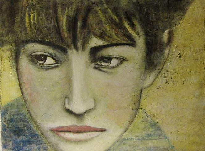 Frau, Acrylmalerei, Malerei, Menschen