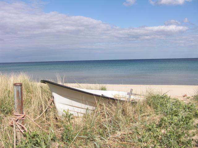Boot, Blauer himmel, Strand, Meer, Fotografie, Reiseimpressionen