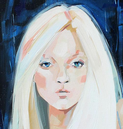 Märchen, Frau, Portrait, Sterntaler, Illustrationen, Ausschnitt