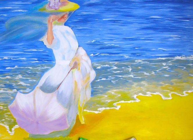 Strand, Malerei, Entspannung
