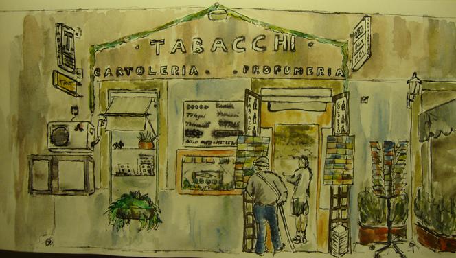 Fassade, Werbung, Wasser, Tabacchi, Italien, Einkaufen