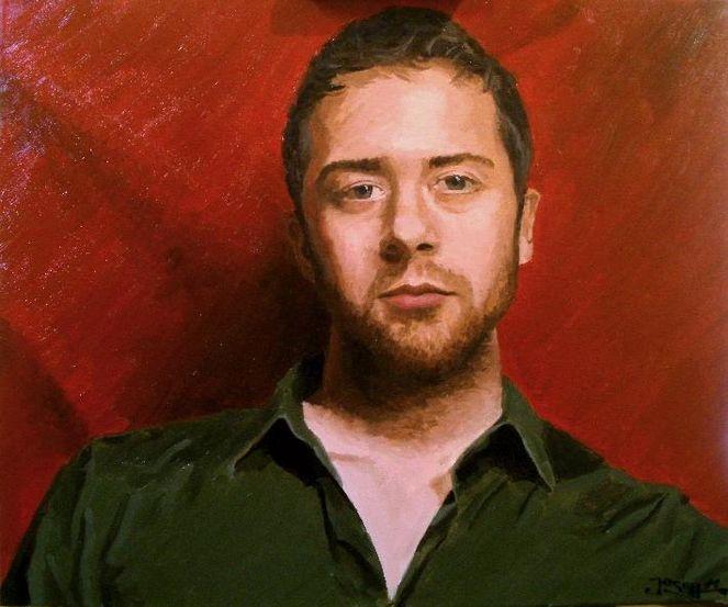 Portrait, Selbstportrait, Malerei