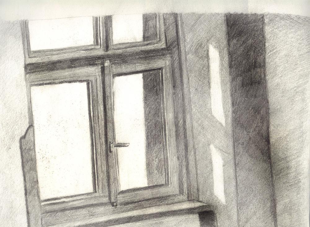 Fenster Bleistiftzeichnung