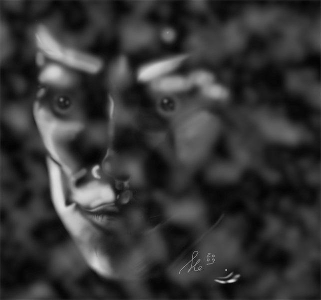Gesicht, Schwarz weiß, Grafik, Digitale kunst