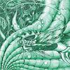 Surreal, Fisch, Grün, Kugelschreiber