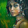 Stolz, Äthiopien, Portrait, Bunte perlen