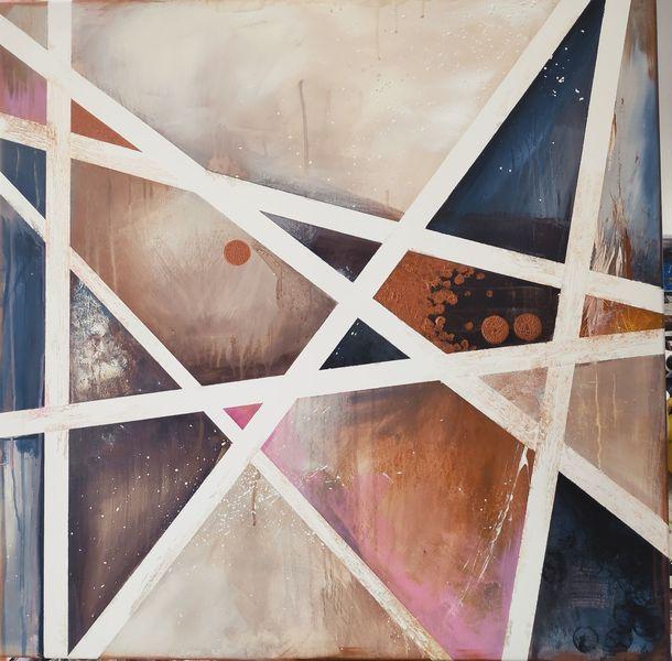Linie, Streifen, Abstrakt, Fläche, Gemälde, Punkt