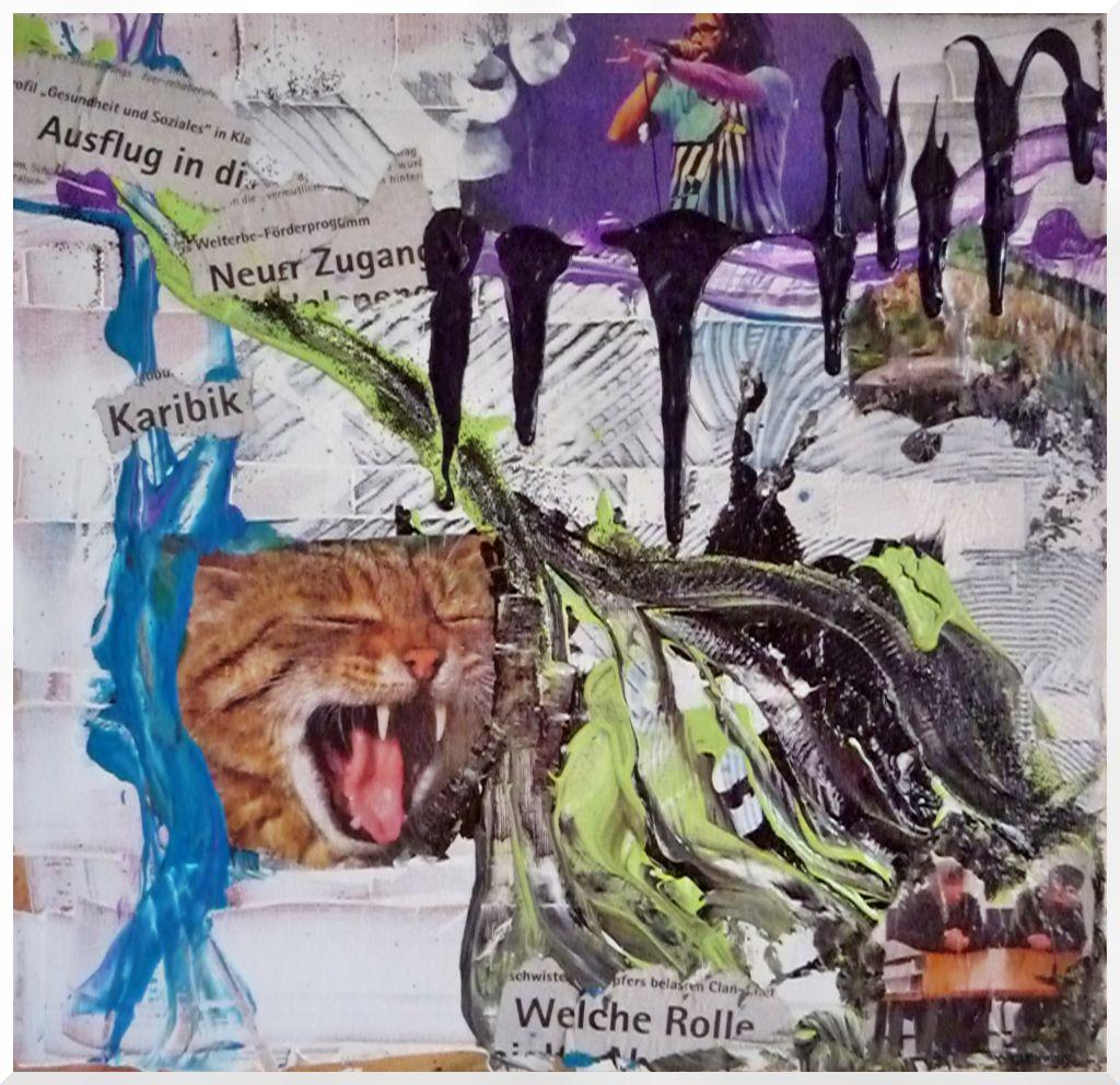 Kunstnet werke malerei abstrakt collage