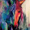 Bunt, Pferde, Reiter, Tiere