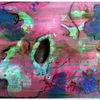 Zeichnen, Klecksen, Acrylmalerei, Bunt